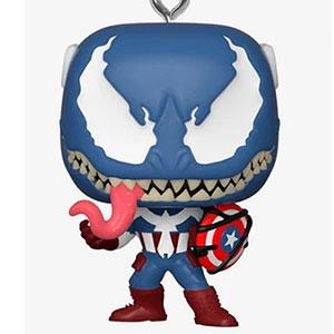 POP!キーチェーン 『マーベル・コミック』「ヴェノム」キャプテン・アメリカ(ヴェノム版)