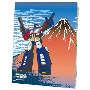 キャンバスアート「トランスフォーマー」01/コンボイ 富士山ver.