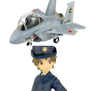 LDPシリーズ 航空自衛隊 戦闘機 F-15J 自衛官フィギュア付き 2(知念都子 2等空士 常装冬服/正帽/外套) プラモデル