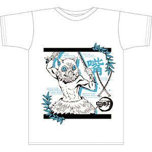 鬼滅の刃 ボトルTシャツ H柄 嘴平伊之助 White M