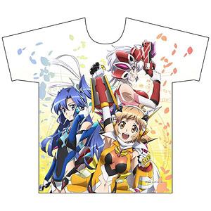 戦姫絶唱シンフォギアXV フルグラフィックTシャツ (響&翼&クリス) Mサイズ