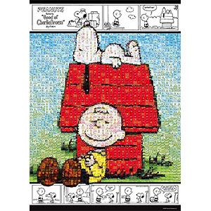 ジグソーパズル モザイク スヌーピーとチャーリー・ブラウン 600ピース (66-145)