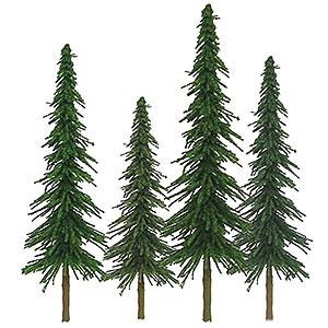 Nスケール モミの木 サイズ:高さ約5cm&約10cm(36本入り)