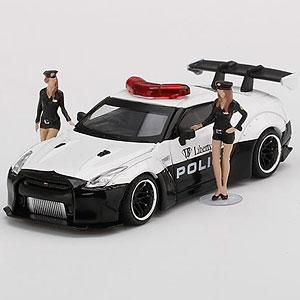 1/64 LB★WORKS Nissan GT-R R35 パトカー フィギュア2体付(右ハンドル)