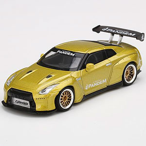 1/64 Pandem Nissan GT-R R35 GTウィング コスモポリタンイエロー(右ハンドル)