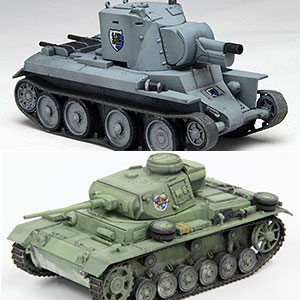 ガールズ&パンツァー 1/72 戦車キット ライバル校特装函セット2 プラモデル