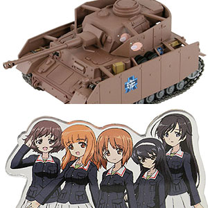 ガールズ&パンツァー IV号戦車H型(D型改)エンディングVer. 半塗装済みプラモデル アクリルフィギュア付き