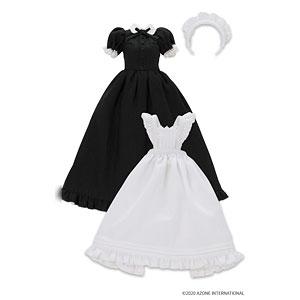 ピュアニーモ用 1/6 PNS クラシカルロングメイド服(半袖)セット ブラック (ドール用)