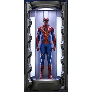 ビデオゲーム・マスターピース COMPACT スパイダーマン(損傷ありクラシック・スーツ/スパイダースーツ格納庫付き)