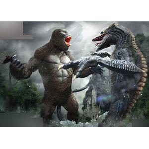キングコング:髑髏島の巨神 コング vs. スカルクローラー スタチュー