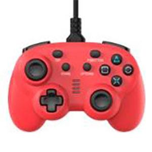 ワイヤード コントローラー ミニ レッド (PS4/Switch用)