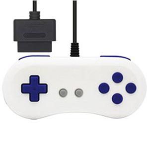 (SFC用互換機/SFC用)16ビットコントローラ(ホワイトブルー)