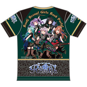 バンドリ! ガールズバンドパーティ! ツーリングTシャツ Roselia Ver. (L)