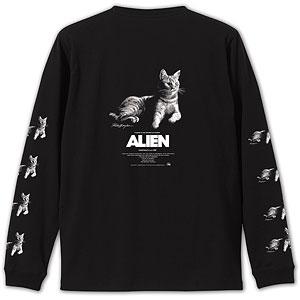 ALIEN JONES Long Sleeve T-shirt Artwork by Rockin'Jelly Bean BLK/ XXL