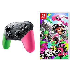 Nintendo Switch スプラトゥーン2 すぐに遊べる Proコントローラーセット