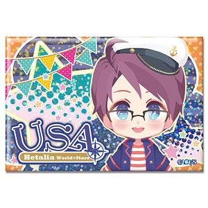 ヘタリア World★Stars ホログラム缶バッジ Ver.2 デザイン04(アメリカ)