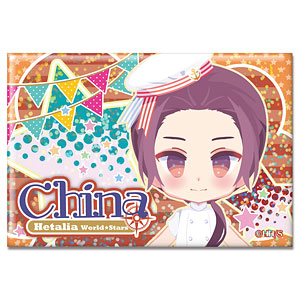 ヘタリア World★Stars ホログラム缶バッジ Ver.2 デザイン08(中国)