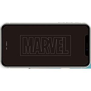 MARVEL iPhone 12 mini 対応ガラススクリーンプロテクター ロゴ