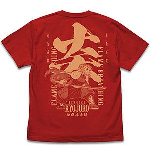 鬼滅の刃 無限列車編 炎の呼吸 煉獄杏寿郎 Tシャツ/RED-L