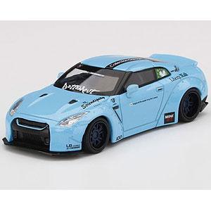 1/64 LB★WORKS Nissan GT-R R35 タイプ1 リアウイング バージョン 2 ライトブルー Collection Garageスペシャル(右ハンドル)