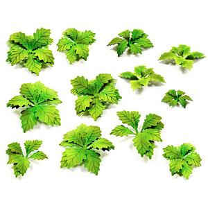 ジオラマ素材 ペーパープランツ ゴボウの葉