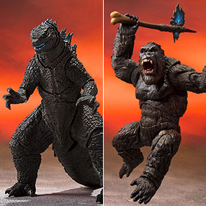 S.H.MonsterArts GODZILLA FROM GODZILLA VS. KONG(2021) / KONG FROM GODZILLA VS. KONG(2021) 2種セット
