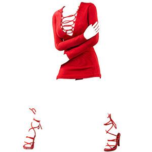 1/6 女性アウトフィット ファッションドレス セット C (ドール用)