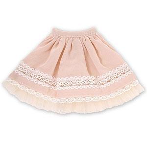 ピュアニーモ用 1/6 こもれび森のお洋服屋さん♪PNSたゆたう夢レーススカート ピンク (ドール用)