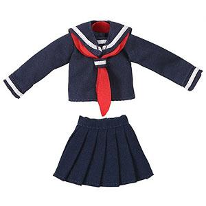 ピコニーモ用 1/12 長袖セーラー服II ネイビー×レッド (ドール用)