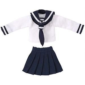 ピコニーモ用 1/12 長袖セーラー服II ホワイト×ネイビー (ドール用)