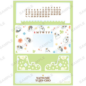 夏目友人帳 ニャンコ先生 Ani-Art 第3弾 卓上アクリル万年カレンダー