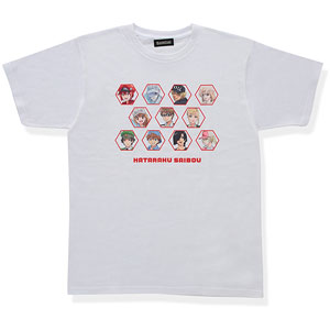 はたらく細胞 大集合!Tシャツ ホワイト S