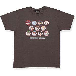 はたらく細胞 大集合!Tシャツ チャコールグレー XL