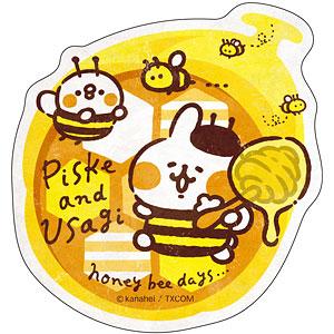 カナヘイの小動物 トラベルステッカー ピスケとうさぎのみつばちデイズ(5)