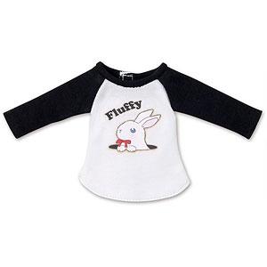 ピュアニーモ用 1/6 PNSふわふわどうぶつラグランTシャツ ブラック×ホワイト (ドール用)