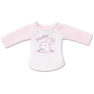 ピュアニーモ用 1/6 PNSふわふわどうぶつラグランTシャツ ピンク×ホワイト (ドール用)