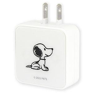 ピーナッツ USB 2ポート ACアダプタ スヌーピー
