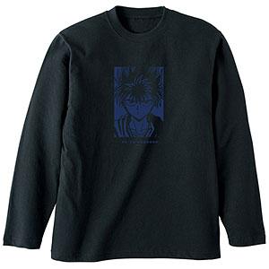 幽☆遊☆白書 描き下ろしイラスト 飛影 90'sカジュアルver. ロングTシャツ ユニセックス XL
