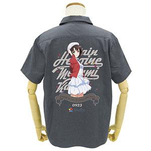 GEE!限定 冴えない彼女の育てかた Fine 限定版 加藤恵フルカラーワークシャツ/GRAY-M