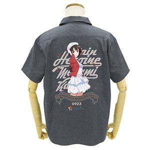 GEE!限定 冴えない彼女の育てかた Fine 限定版 加藤恵フルカラーワークシャツ/GRAY-L