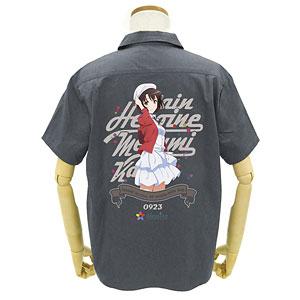 GEE!限定 冴えない彼女の育てかた Fine 限定版 加藤恵フルカラーワークシャツ/GRAY-XL