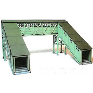 MS-123 跨線橋 淡緑色 完成品(1/80サイズ)