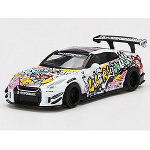 "1/64 LB★WORKS Nissan GT-R R35 タイプ2 リアウイング バージョン 3""LBWK Kuma Graffiti""(左ハンドル)"