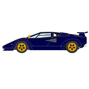 """1/18 ランボルギーニ カウンタック LP400S プロトタイプ """"ウォルターウルフ3号車"""" 1978"""