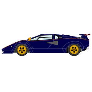 """1/18 ランボルギーニ カウンタック LP400S プロトタイプ """"ウォルターウルフ3号車"""" 1980"""