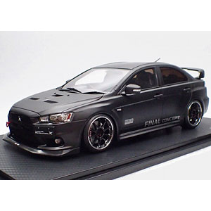 1/18 Mitsubishi Lancer Evolution X (CZ4A) Matte Black