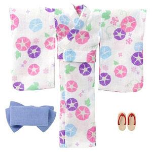 ピコニーモ用 1/12 浴衣set~朝顔と乙女~ 月白色 (ドール用)