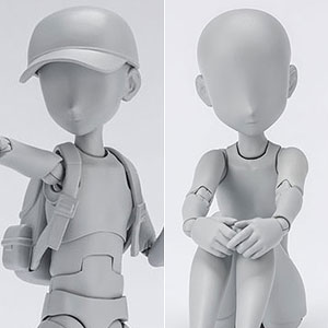 S.H.Figuarts ボディちゃん・ボディくん-杉森建- Edition DX SET (Gray Color Ver.) 2種セット