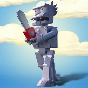 ザ・シンプソンズ/ ロボット スクラッチー アルティメイト 8インチ アクションフィギュア