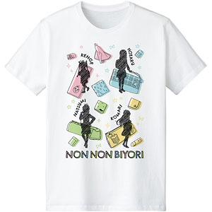 のんのんびより のんすとっぷ Ani-Sketch Tシャツ レディース XL